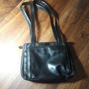 Liz Claiborne vintage leather travel bag